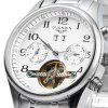 GUANQIN Men Calendar Automatic Mechanical Watch - SILVER WHITE