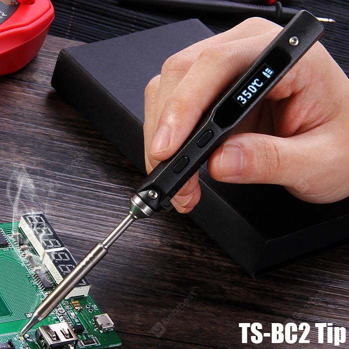 TS100 Mini Soldering Iron TS BC2 Kit Portable Programable Digital Design Tool