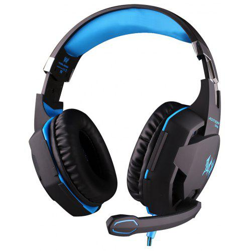 EACH G2100 USB and Audio Jack Dual Input Gaming Headphones Stereo Sound Vibration Headset Stretchable Band 2.2m Nylon - coated Cable for PC Game | Gearbest
