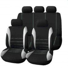 T21620 Universal Car Seat Cover 9 Set Full Covers For Crossovers Sedans