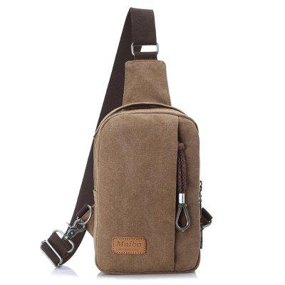 Male Stylish Solid Color Leisure Chest Bag
