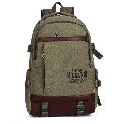 Durable Canvas Concise School Style Backpack for Men