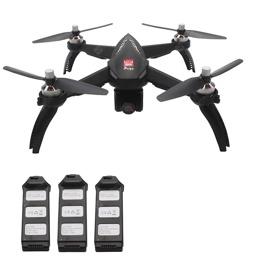 MJX Bugs 5W ( B5W ) WiFi FPV RC Drone - Black 3 Batteries