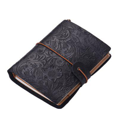 SP1361 Creative Vintage Leather Notebook Travel Carved Diary Book