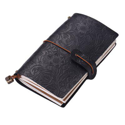 SP1362 Creative Vintage Leather Notebook Travel Carved Diary Book