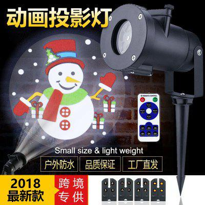 Led Animation Film Projection Lamp Christmas Animation Lights Outdoor Waterproof Lawn Dynamic Decorative Lights