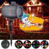 LED Animation Film Projection / Outdoor Waterproof Lawn Lamp Dynamic Decorative Light - BLACK