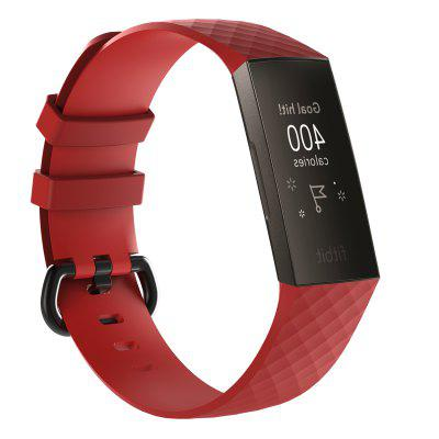 Same Paragraph Bracelet Accessories Texture Silicone Strap for Fitbit Charge3 Smart Watch