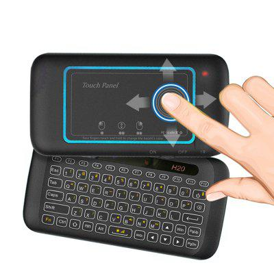 H20 2.4G Double-sided Mini Wireless Keyboard Full-screen Touch Panel