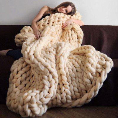 Nordic Thick Wool Hand-woven Sofa Blanket
