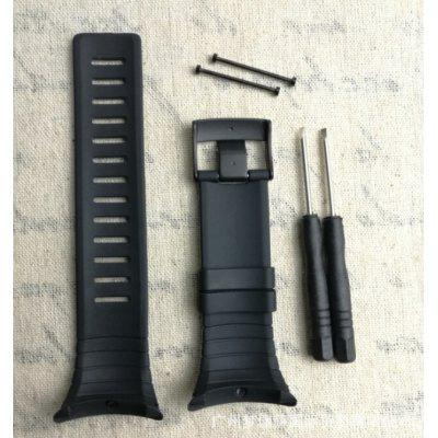 Black Rubber Watch Strap for SUUNTO CORE Watch