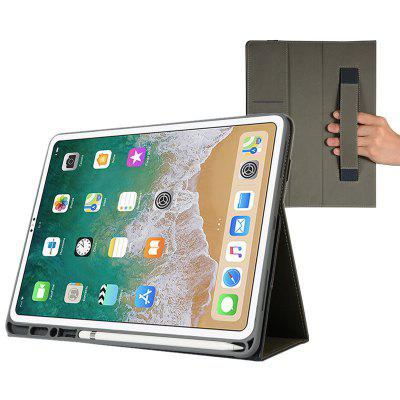 12.9 inch Pen Holder Hand Grip Tablet Leather Case for iPad Pro