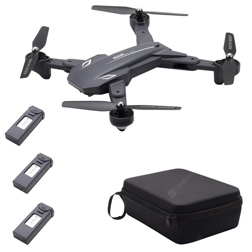 TIANQU VISUO XS816 Optical Flow Positioning Dual Cameras RC Drone - RTF - Black 3 Batteries + 1 Bag