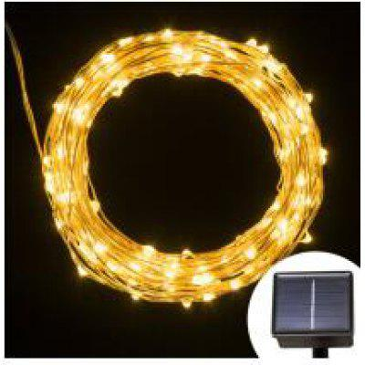 100 led solar LED Light Waterproof LED Copper Wire String Holiday Outdoor led strip Christmas Party Wedding Decoration ip64