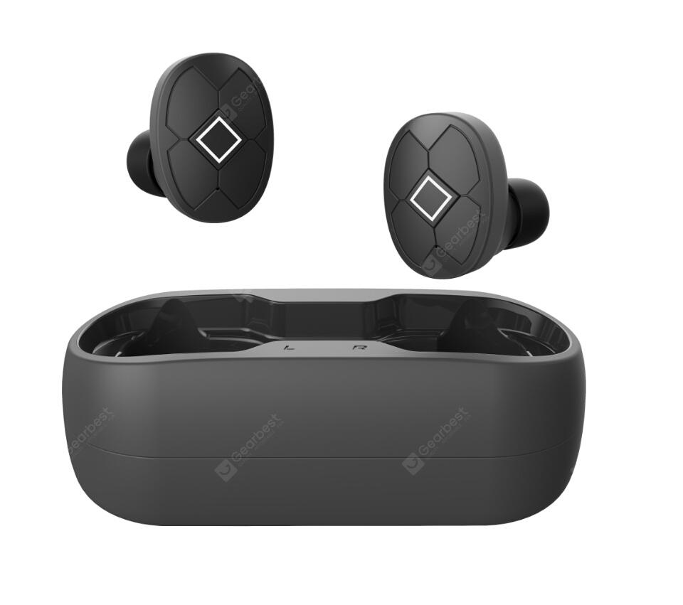 Bilikay V5 TWS Bluetooth 5.0 Binaural Call Earphones True Wireless Earbuds Waterproof Noise Reduction Sports Headset With Charging Box - Black
