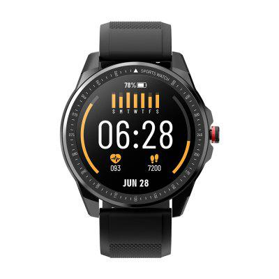 TICWRIS RS Smart Watch 1.3 inch Ultra-thin 9mm 50 Days Standby 31 Sports Modes IP68 Waterproof Bluetooth 5.0 Get One Strap Free - Black Black Strap +Gray Strap