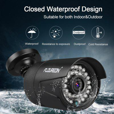 FLOUREON 1080P 2MP 3000TVL NTSC Waterproof Outdoor Camera Night Vision