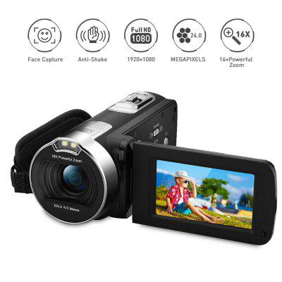 1080P FULL HD Portable Digital Video Camera LCD 24MP  DV AV Output Night Light Black UK