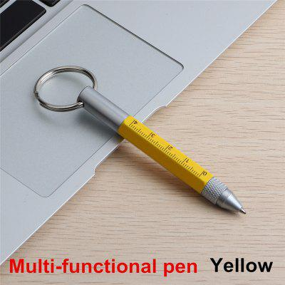 1PCS Mini Multifunction Ballpoint Pen High Quality Stylus Tool Ball Touch Pen Screwdriver Metal Small Pens Keychain 6 in 1