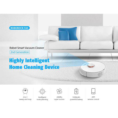 Xiaomi S50 Smart Robot Roborock Vacuum Cleaner Second-Generation Cleaning Device