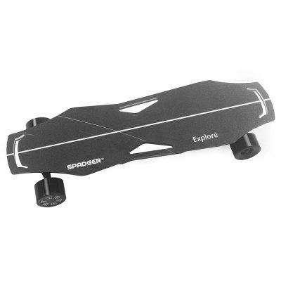 Spadger Electric SkateBoard Longboard 300W Dual Motor 23MPH Max Speed with remote Load 100kg
