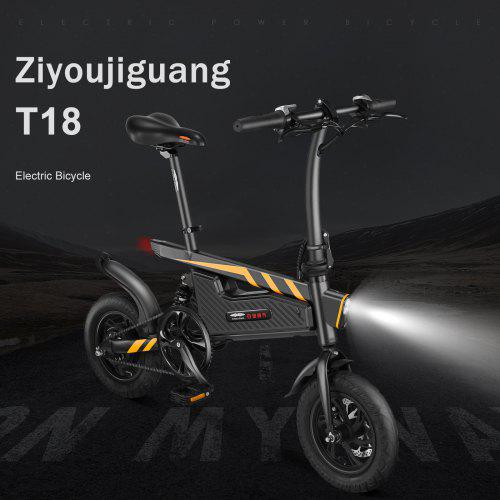 ZIYOUJIGUANG T18 Electric Bicycle Foldable Bike Ship from Poland UPS 3-5 day delivery