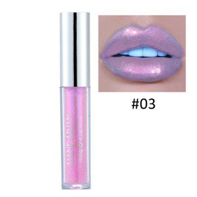 Sexy 6-color  lip gloss laser holographic lipstick mermaid pigment partial metal pearl gloss makeup