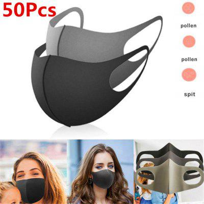 sponge mask black breathable face mouth reusable AntiPollution facial shield wind proo94