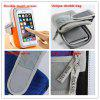 LEEHUR Outdoor Sport Armband Bag Case for 5.5 inch Phones Zipper Gym Running Phone Bag Arm Band Case for iPhone Huawei Pouch