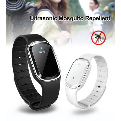 Portable M1 Ultrasonic Mosquito Repellent Bracelet White Black