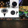 Solar Powered 4LED 8LED Solar Light Outdoor Garden Light Stainless Steel Buried Lawn Lamp 1PCS