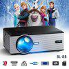 FLOUREON BL-88 Portable Home Movie Projector 20DB Quiet 1080P Support VGA USB AV SD HDMI TV