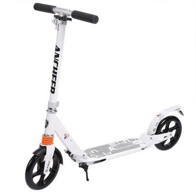Ancheer Scooter Sturdy Lightweight Height Adjustable Aluminum Alloy T-Style Foldable Design Adults Image