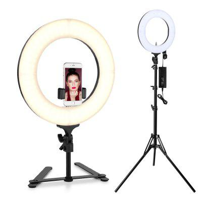 Houzetek LD - R14 - S 14 inch Bi-color Dimmable LED Ring Light US Plug