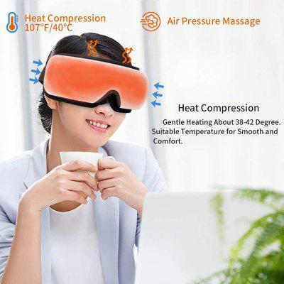 Wireless Eye Massager at Only $36 Which Provides Hot Compress Eye Massage and Relaxing Bluetooth Music Is Protective for Those Whose Eyes Stare at the Computer All Day Long