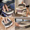 Folded Foot Bath Spa Massager - Heating and  Bubble Wave - All in One Pedicure Machine Set f