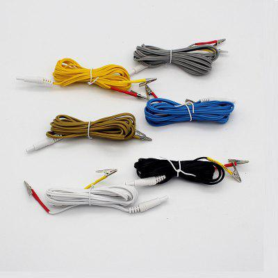 1pc 2m Cable for Electric Stimulation Acupuncture Therapy Device Therapeutic Apparatus