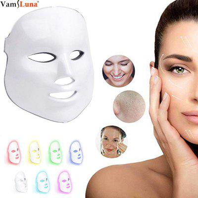 7 Color LED Face Mask - Photon Light Therapy for Healthy Skin Rejuvenation - Facial Skin Care