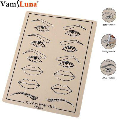 10 pcs Skin Silicone Sheet Eyebrow Lip Permanent Makeup Tattoo Practice flexible for more
