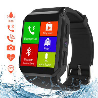 Kospet kw06 IP68 Waterproof Android 5.1 OS 3G Phone Call Smartwatch with Heart Rate Monitor Image