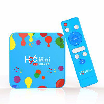 H96 Mini H6 Android 9.0 TV Box Allwinner Quad Core 6K H.265 Wifi netflix Youtube Décodeur 128 Go