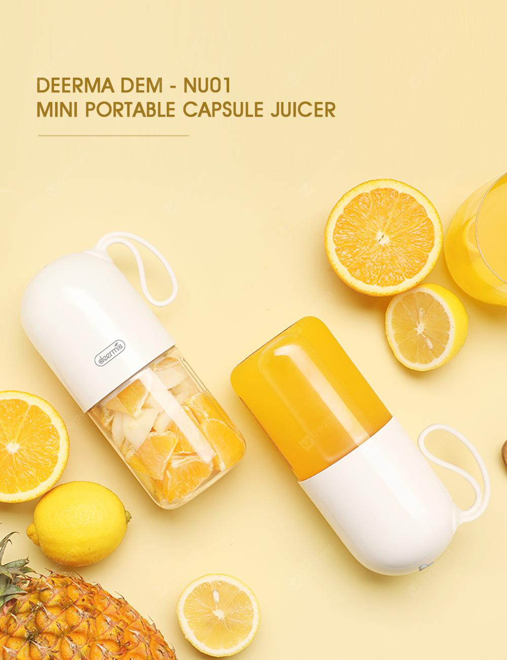 Xiaomi Deerma 300ml Portable Electric Juicer Blender Multipurpose Wireless Mini USB Rechargable