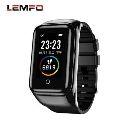 LEMFO M7 Smart Watch Bracelet Color Screen Sports Pedometer Dual Bluetooth Headset 2-in-1 Bracelet Image