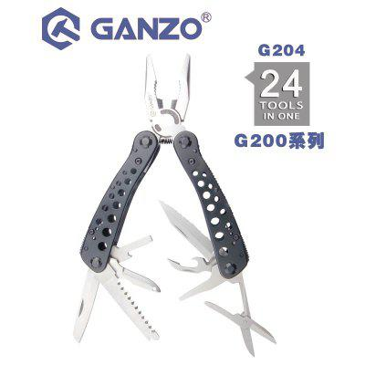 Ganzo  G204 24 IN 1 Multi pliers Hand Tool Set with Screwdriver Kit Portable Knife Steel Pliers