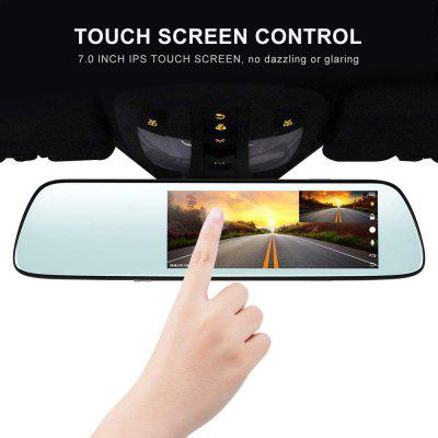 Mirror Dash Cam 1080P Car Camera with 7 Inch Touch Screen Motion Detection