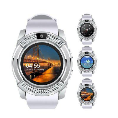 Sport Men Smart Watch V8 SIM Card Android Camera Rounded Bluetooth Answer Call Dial Call Smartwatch Heart Rate Fitness Tracker