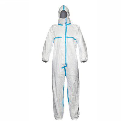 Disposable Hooded Dustproof Protective Clothing Waterproof Full Body Isolation Against Infection