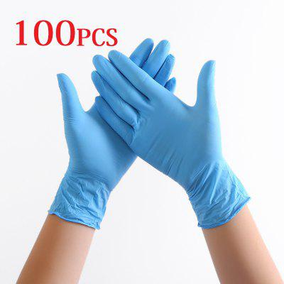 100PCS Disposable Nitrile Gloves Virus Protective Gloves Anti-virus Work Safety Mechanic Gloves