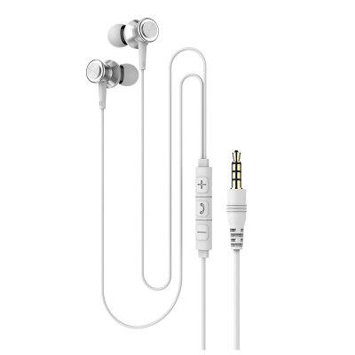 In-Ear Headset With Microphone Wire-Controlled Call Headset 3.5mm Heavy Bass Wired In-Line Headset