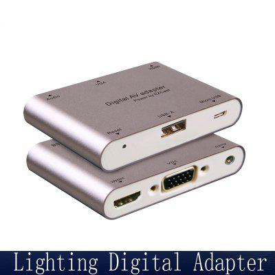 Usb To Vga Adapter Cable Usb3.0 2.0 To Vga External Graphics Projector Interface